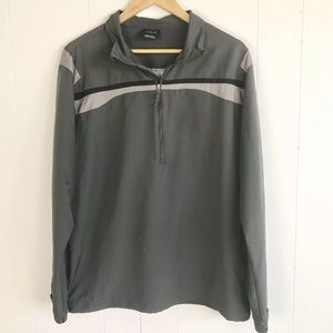 Nike Gold Mens 1/4 zip pullover gray large